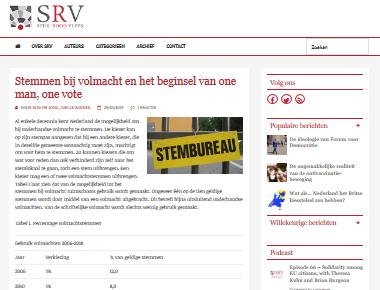 Stemmen bij volmacht en het beginsel van one man, one vote